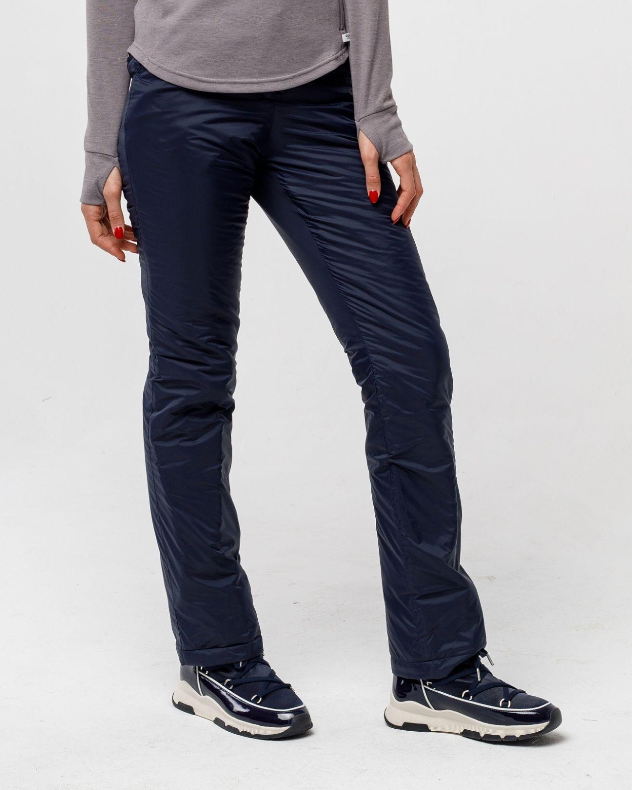 Плащевые женские синие брюки HEIDEN  вид3