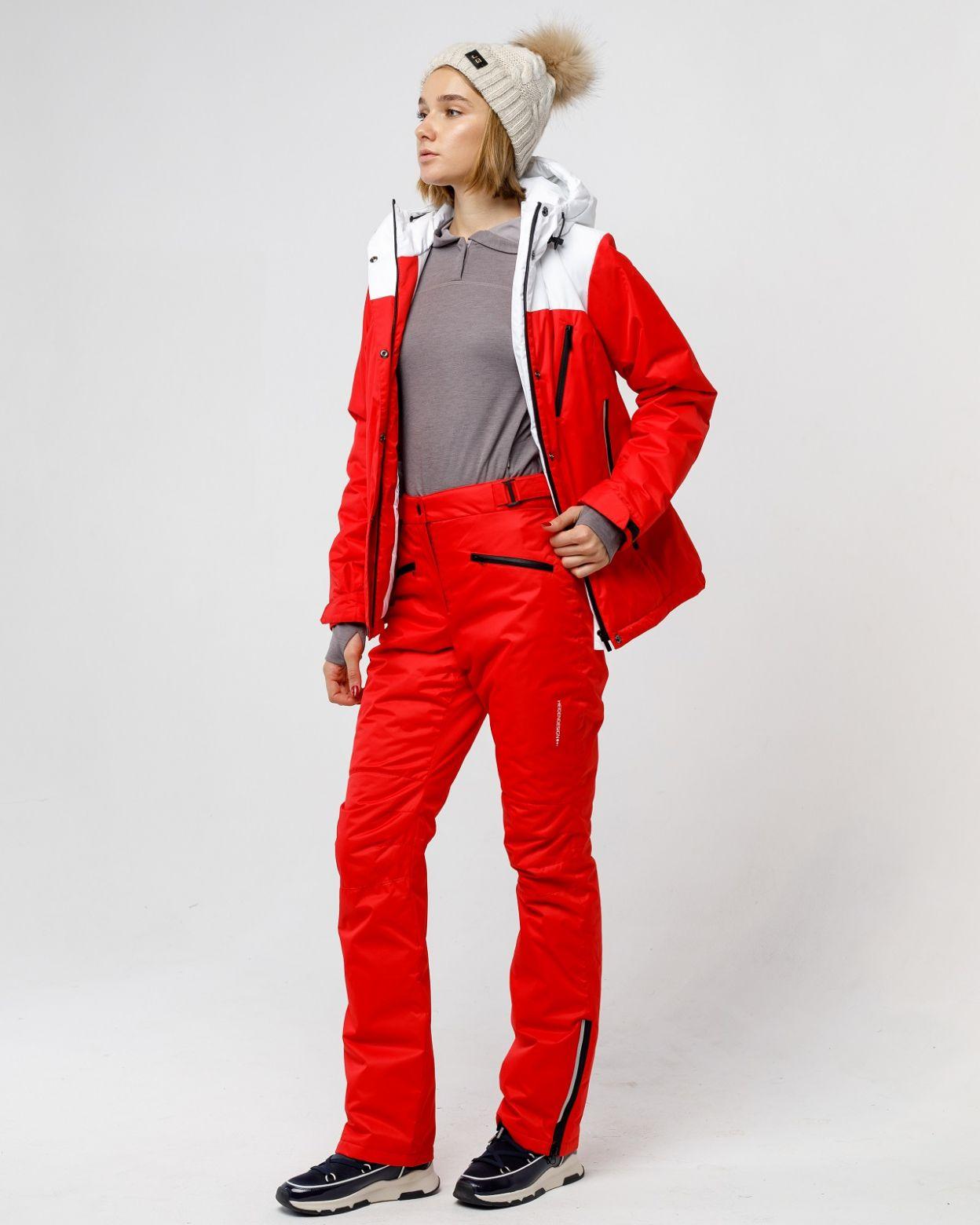 Зимний красный костюм HEIDEN вид3