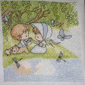 Схема для вышивки крестом Нежные иллюстрации - На берегу. Отшив.