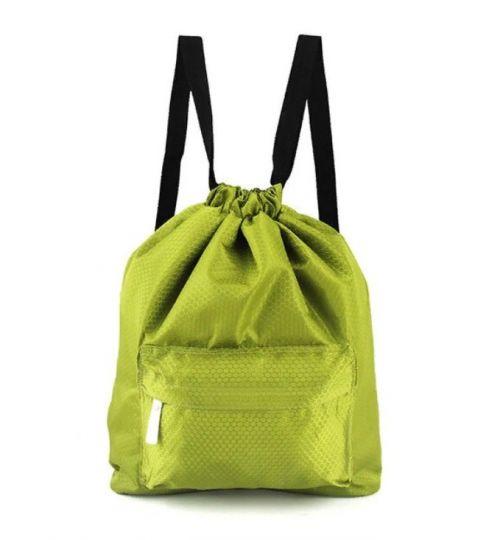 Пляжная сумка-рюкзак с отделением для мокрых вещей, 30х40 см (цвет зеленый)