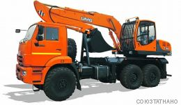 E195А ЭКСКАВАТОР НА АВТОМОБИЛЬНОМ ХОДУ КАМАЗ-43118 (ЕВРО 5)