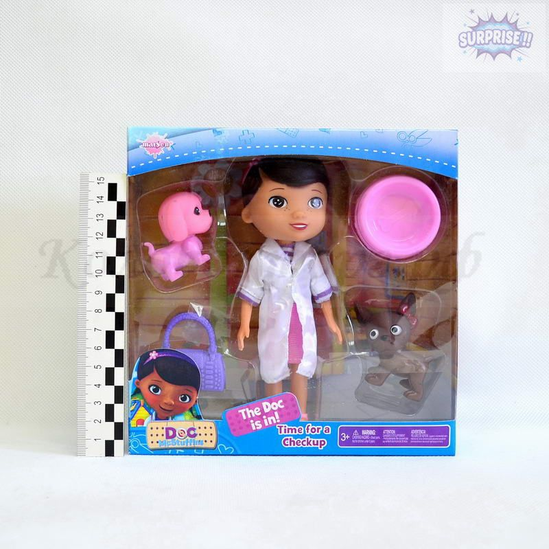 Кукла набор Доктор Плюшева 15см (кукла+питомц+аксессуары)(№SY06A)