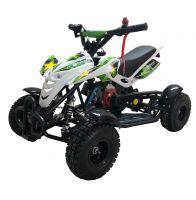 Детский квадроцикл бензиновый MOTAX ATV H4 Mini 49 сс Бело-зелёный