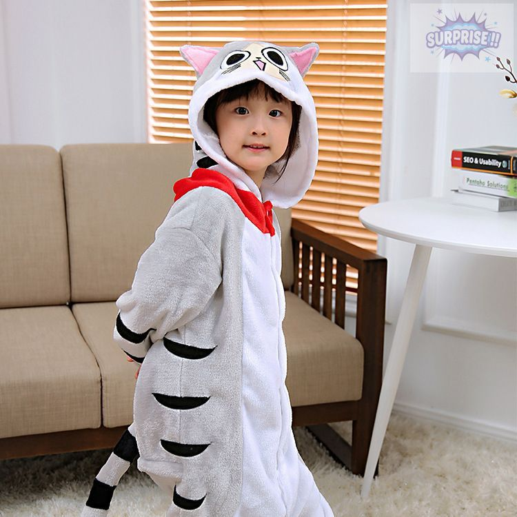 Кигуруми пижама-комбинезон Серая Кошка