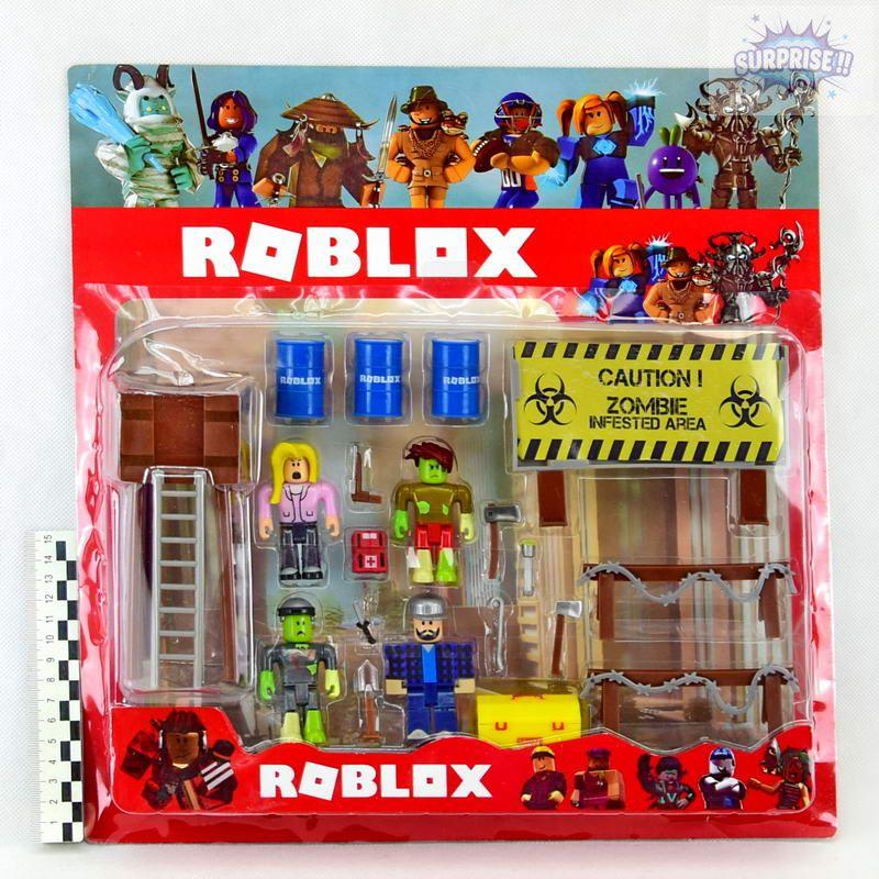 Roblox набор 4фигурки+вышка+аксессуары 7,5см (№JL18901)