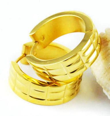 Серьги с желтым золотом