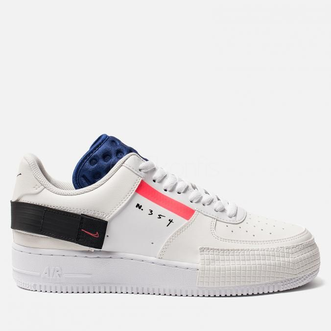 Nike Air Force 1 Low Type Summit White/Red Orbit-White-Black