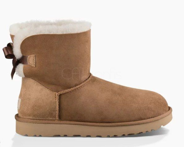 "UGG MINI BAILEY BOW II BOOT ""CHESTNUT"""