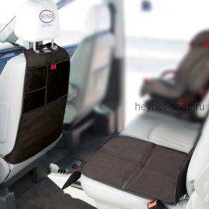 Комплект защитный коврик на сиденье и спинку HEYNER Seat Backrest Protector + Органайзер на спинку сиденья HEYNER Kick Mat Organizer