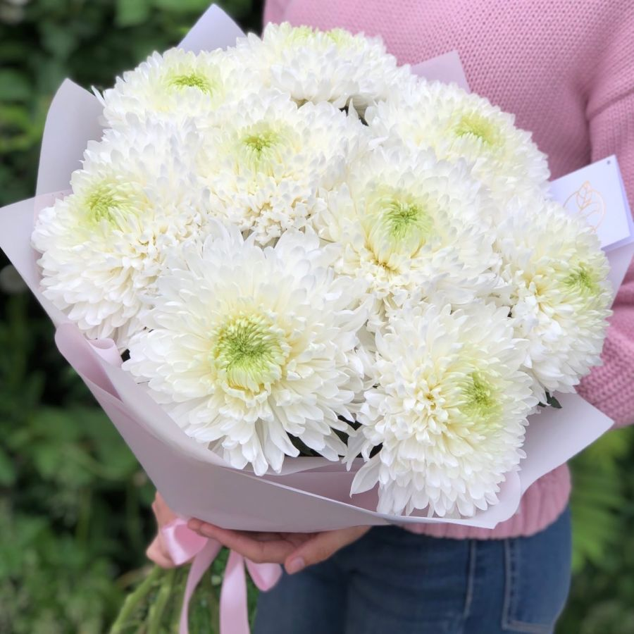 Букет из одноголовых хризантем
