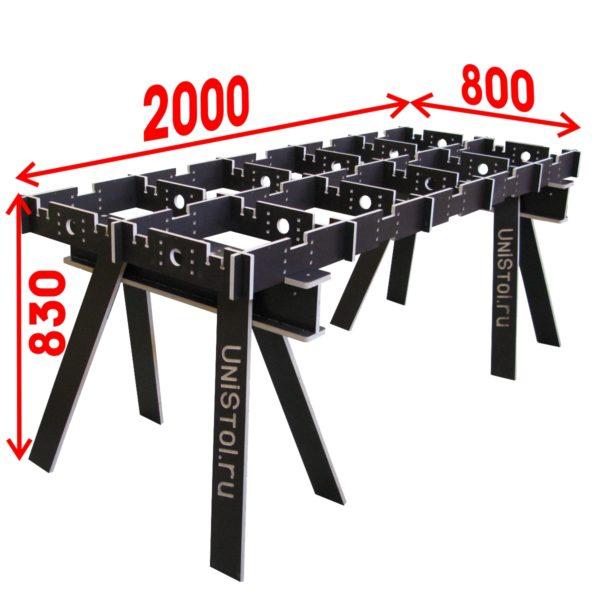 Ячеистый стол для раскроя листовых материалов 800х2000 мм без столешницы