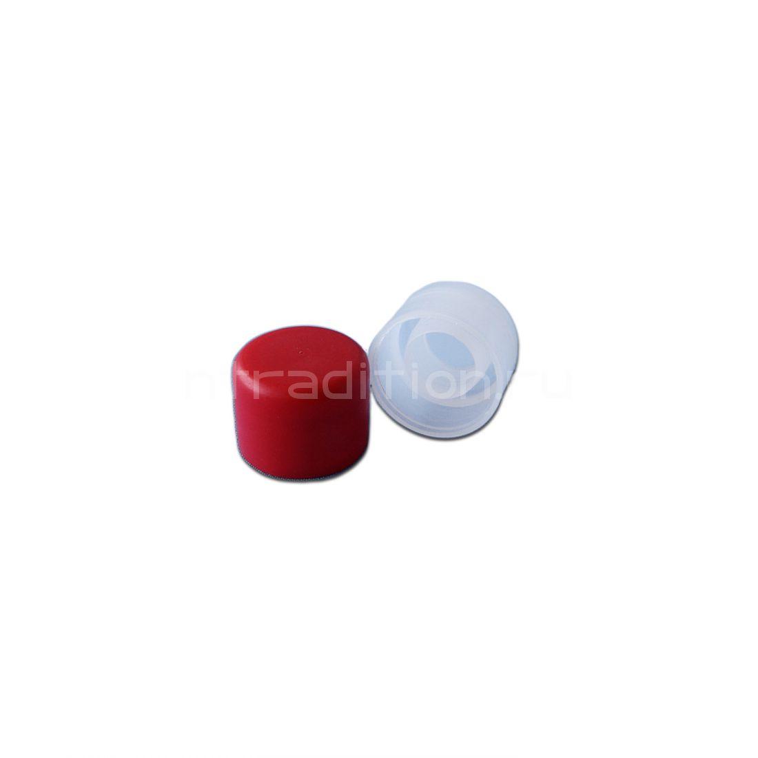 Пробка полимерная для бутылок Porto, цвет красный 10 шт