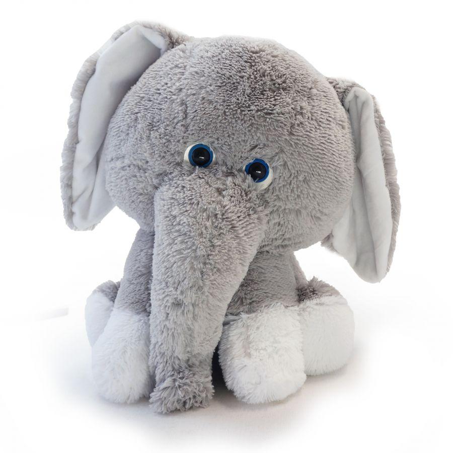 Слоненок Леон (Сидя - 45см) Серый