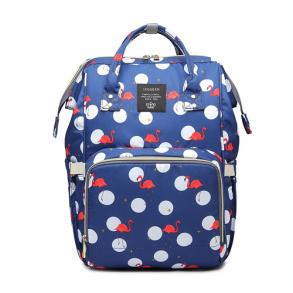 Сумка-рюкзак для мамы Mummy Bag Фламинго (синяя)