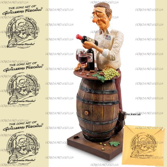 "Фигурка коллекционер вина 85547 ""The Wine Lover. Forchino"""