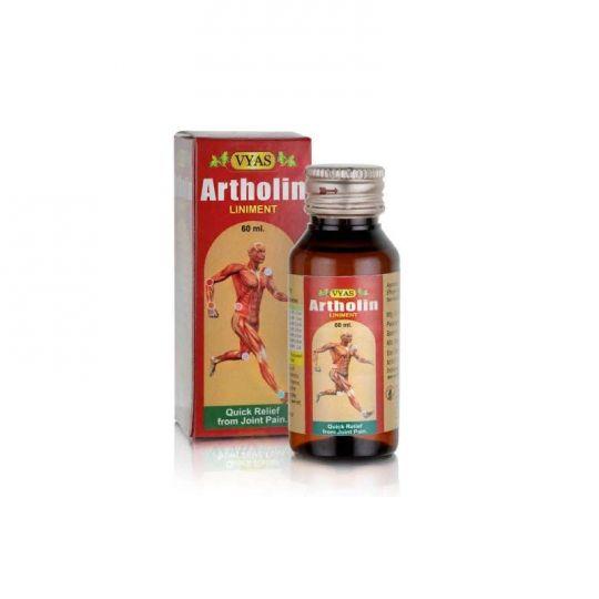 Масло для суставов Артхолин, 60 мл, производитель Вьяс; Artholin liniment, 60 ml, Vyas