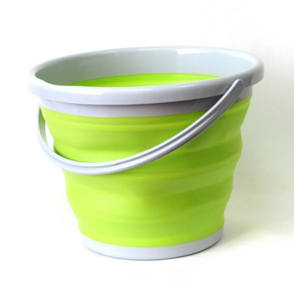 Ведро складное силиконовое Folding Bucket, Зеленый