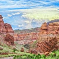 Чарынский каньон «Долина замков»