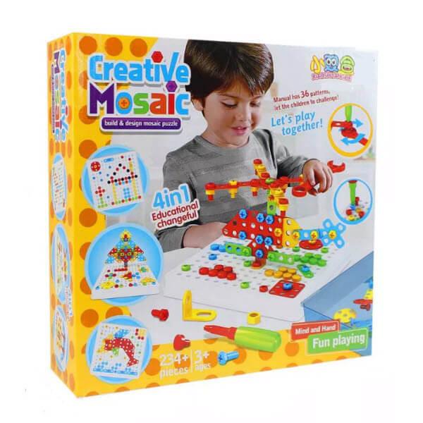 Конструктор-мозаика с отверткой Creative Mosaic. 234 детали