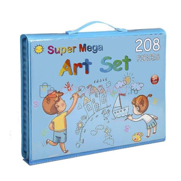 Набор для рисования со складным мольбертом в чемоданчике. 208 предметов