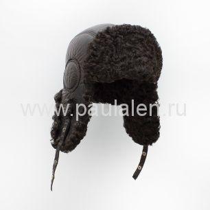 Мужская шапка-ушанка из меха Каракуля. Артикул B045_К