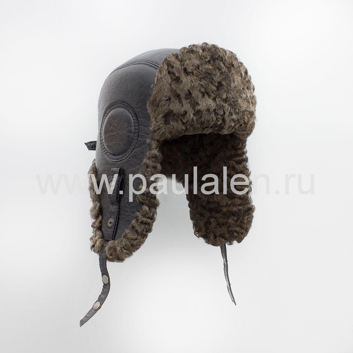Мужская шапка-ушанка из меха Каракуля. Артикул B045_К3
