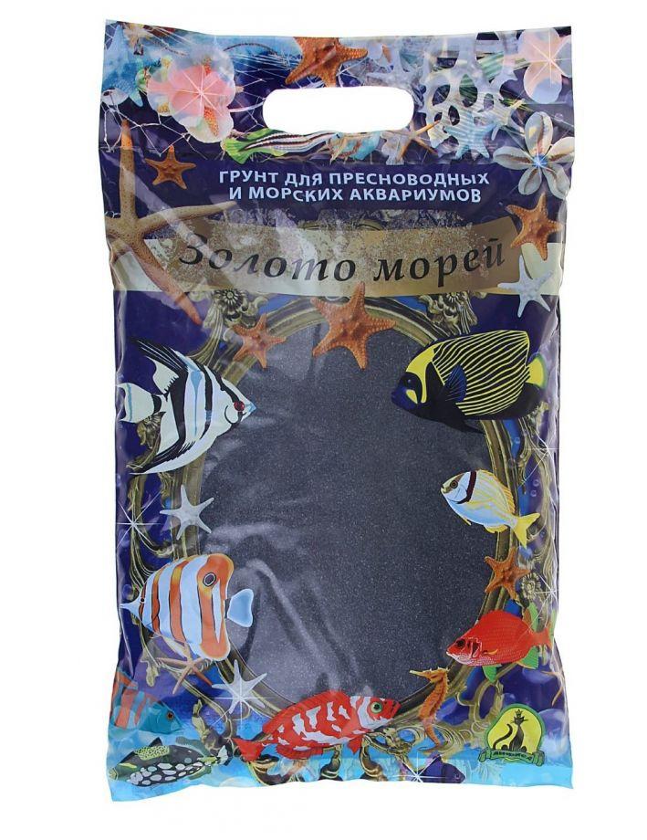 """Песок для аквариума """"ЗОЛОТО МОРЕЙ"""" черный (3,5 кг)"""