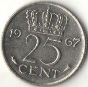 25 центов. 1967 год. Нидерланды.