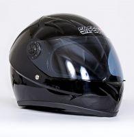 Шлем интегральный черный глянец вид 1