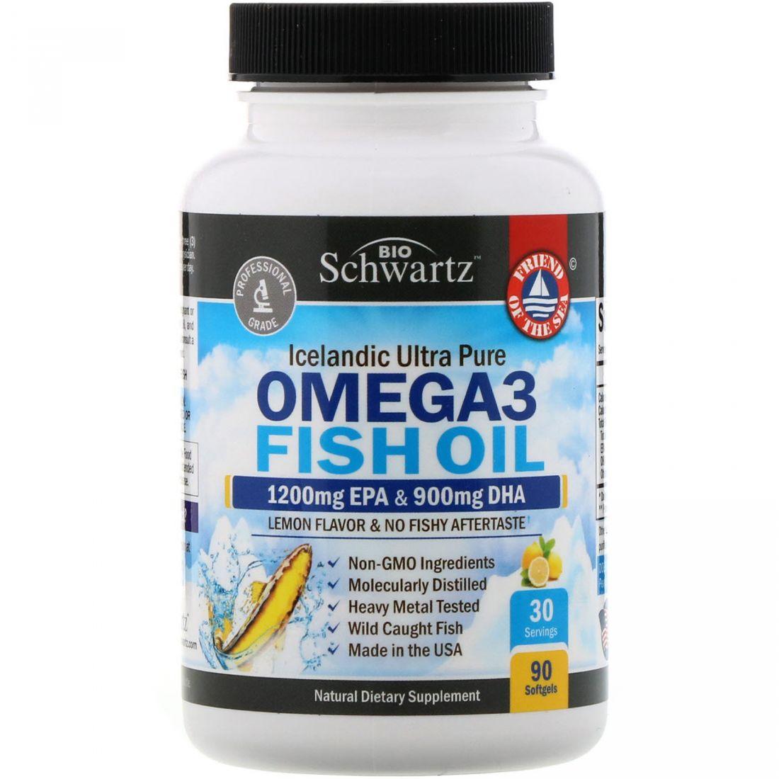 Omega 3 Fish Oil, 90 шт