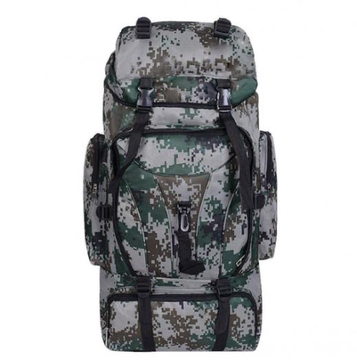 Военно-туристический рюкзак на 85л цвет зеленый пиксель