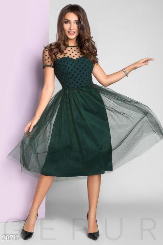Вечернее платье в горошек 28711