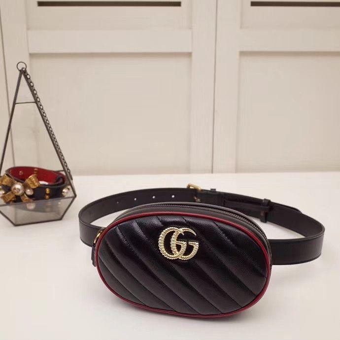 Поясная сумка Gucci Marmont GG 18 cm
