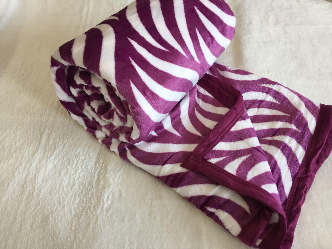 Պլեդ-ծածկոց «մանուշակագույն-սպիտակ» (pled-tsatskoc)
