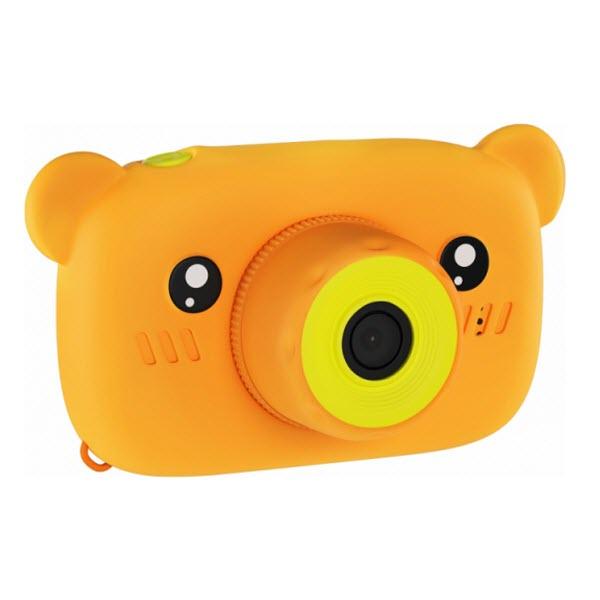 Детский цифровой фотоаппарат с селфи камерой. Мишка. Цвет: Оранжевый