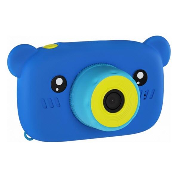 Детский цифровой фотоаппарат с селфи камерой. Мишка. Цвет: Синий