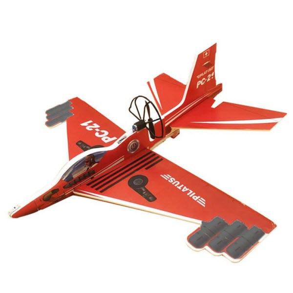 Сборный самолет-истребитель с автономным мотором, Цвет: Красный