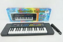 Пианино синтезатор 37 клавиш на батарейках с микрофоном