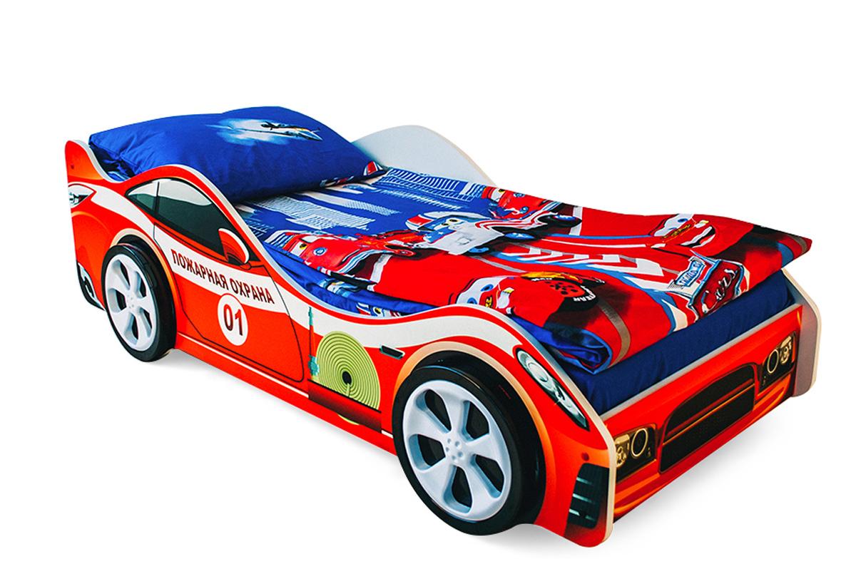 Детская кровать-машина Пожарная охрана