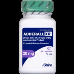 Аддералл XR 20мг 100таб