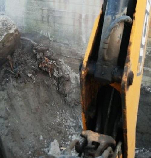 Демонтаж железобетонных конструкций для проезда экскаватора, г. Ревда