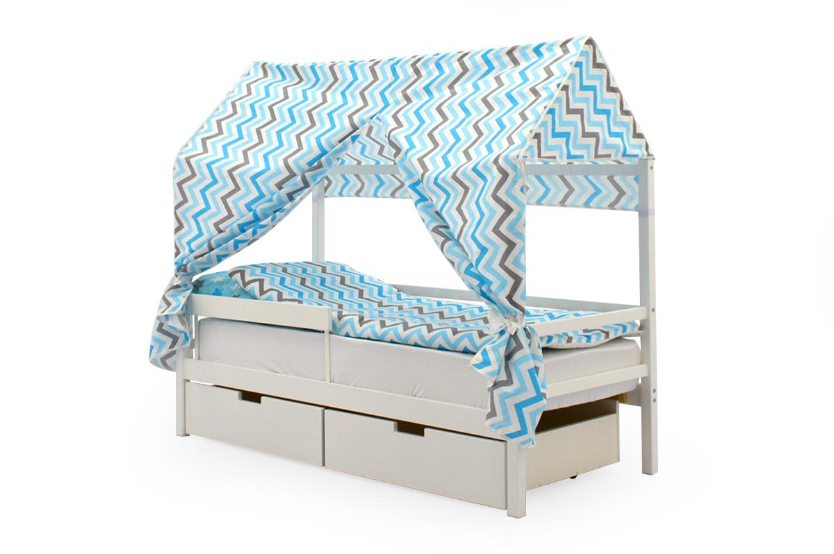 Крыша текстильная для кровати-домика Svogen зигзаги