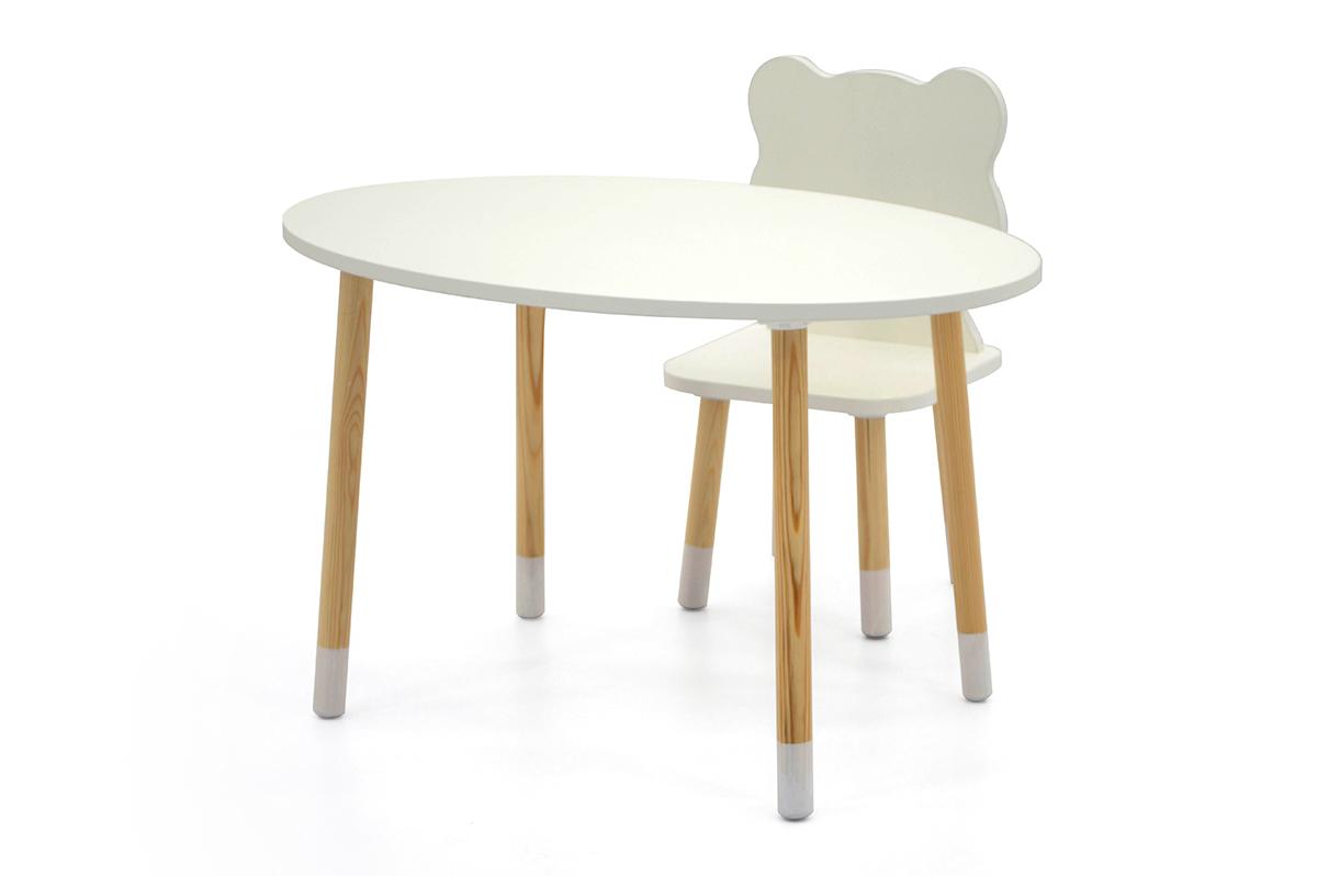 Детский стол Stumpa овал белый