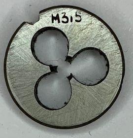 Плашка М3,5х0,6 9ХС ГОСТ9740-71