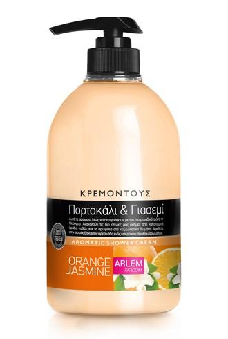 Кремовый гель для душа с ароматом Апельсина и жасмина, 1000 мл