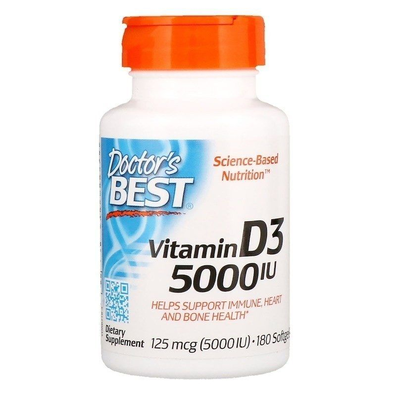 Doctor's Best Витамин D3 125 мкг 180 табл