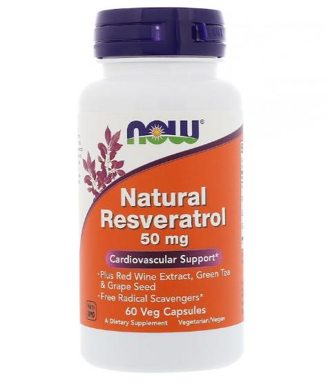 Now Foods Resveratrol 50 мг 60 капс