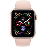 Apple Watch Series 4 GPS, Корпус: Алюминий, Ремешок: Cпортивный ремешок цвета «розовый песок»
