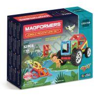 Магнитный конструктор MAGFORMERS 703009 Adventure Jungle 32 set