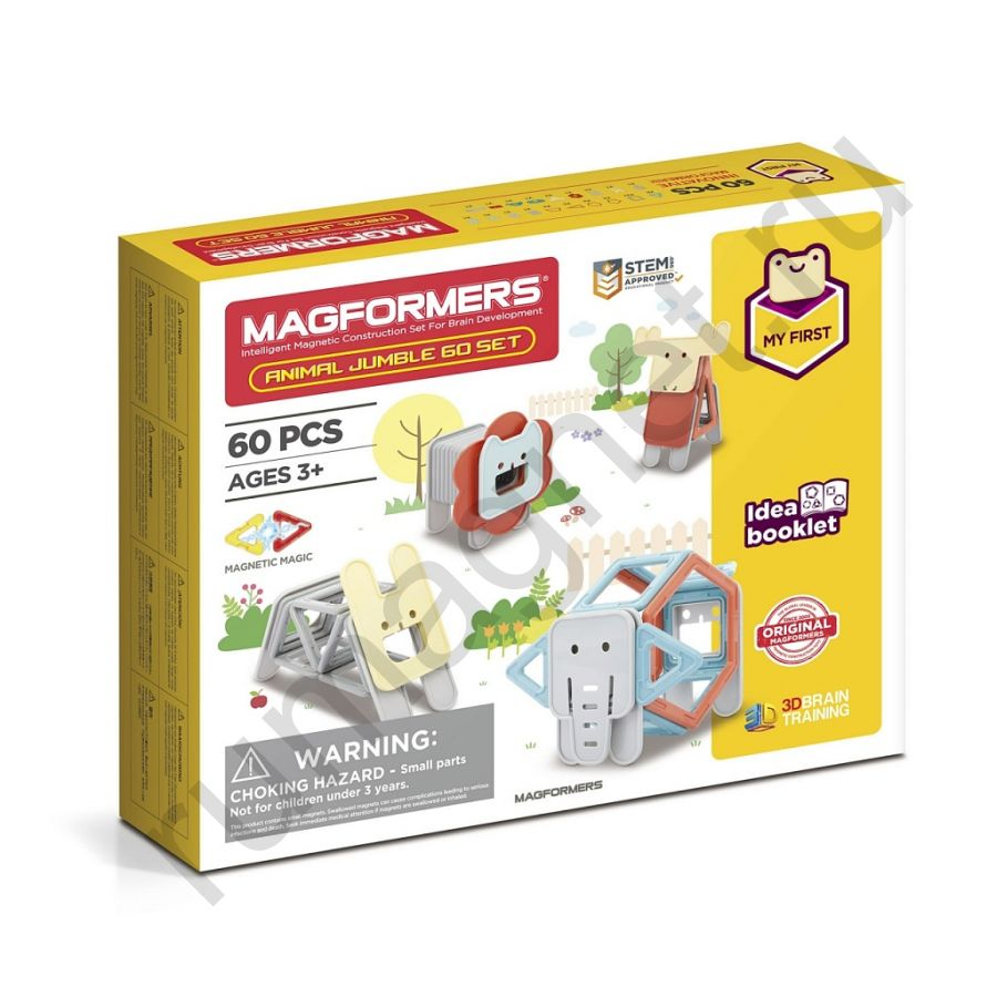 Магнитный конструктор MAGFORMERS 702015 Jumble 60 Set